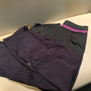 2 pairs athletic pants size small